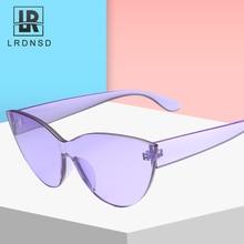 LRDNSD Brand Sunglasses Women Design Retro Colorful Transparent Fashion Cateye Sun Glasses UV400