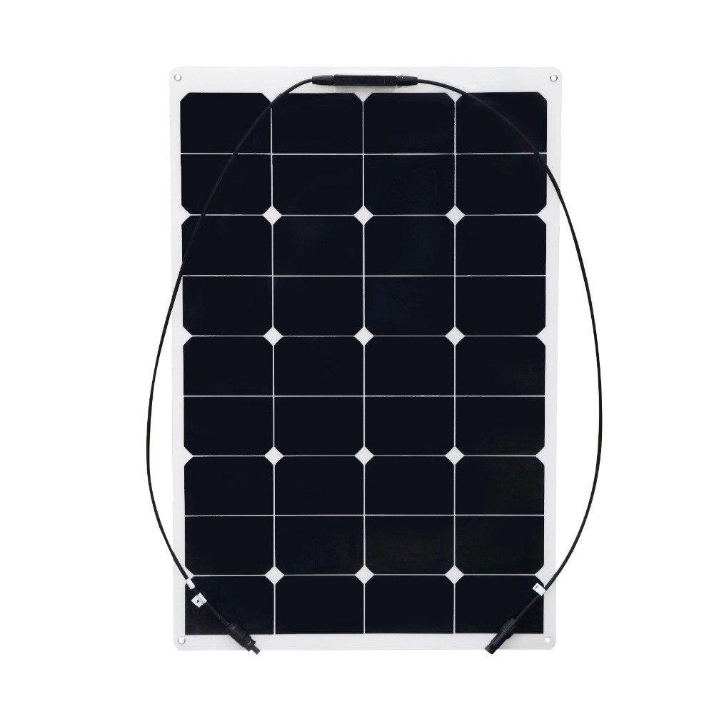 XINPUGUANG 75W flexible panneau solaire 12V panneau solaire PV panneau solaire yacht bateau RV peinture module solaire pour voiture RV bateau chargeur de batterie