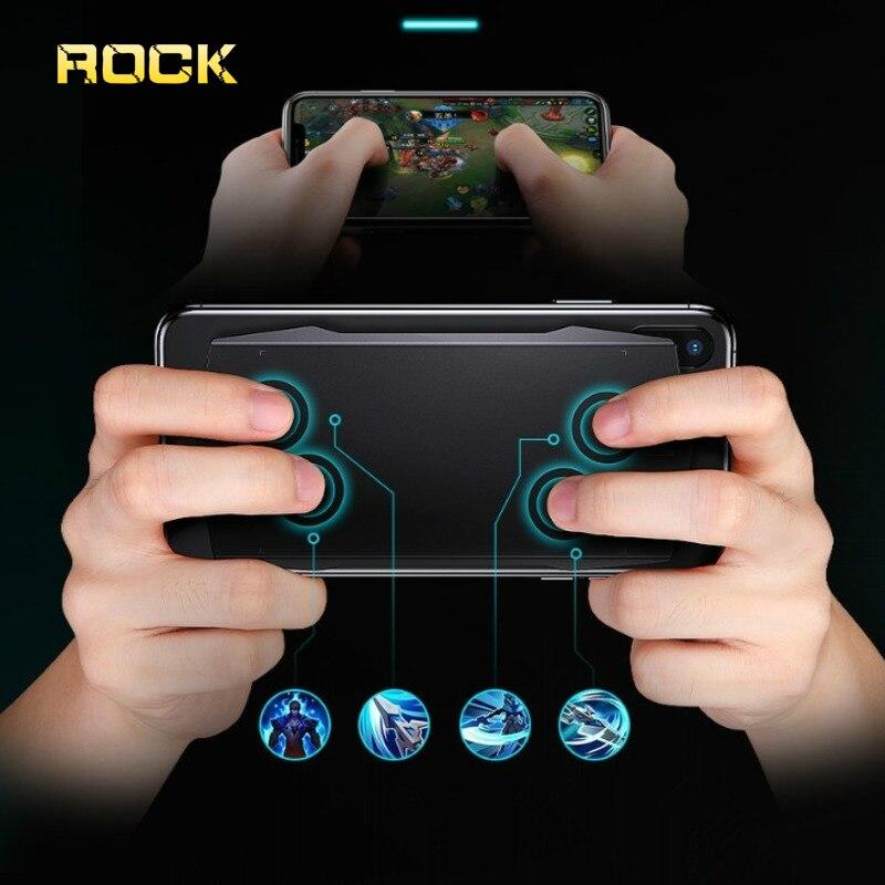 Contrôleur Mobile de manette de jeu de Smartphone de Bluetooth de roche avec le commutateur de manette de jeu de Science de fond de panier tactile pour l'iphone LG
