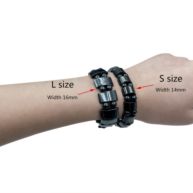 Adjustable Weight Loss Round Black Stone Magnetic Therapy Bracelet Health Care Luxury Slimming Product 4