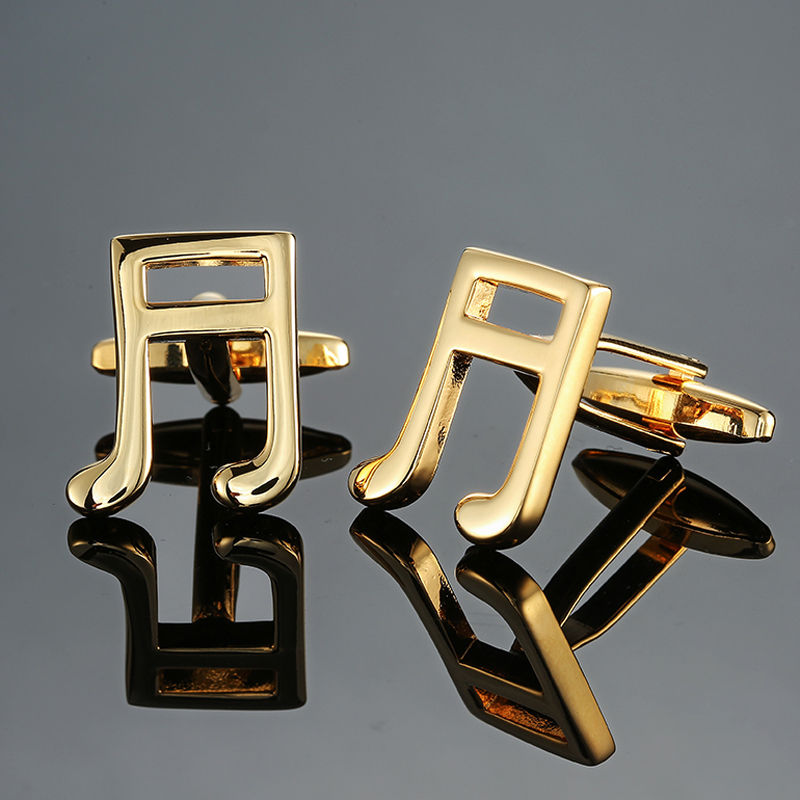 DY new high quality brass musical instruments Sax trumpet drum piano violin music symbol French shirt Cufflinks free shipping 9