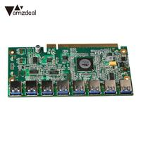 AMZDEAL 1 To 8 PCIe Miner Machine Graphics Card Extension Cord PCI E 16X To 8