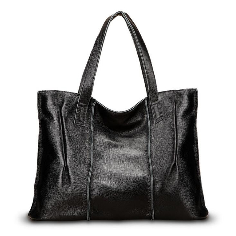 Fashion Women Handbag Genuine Leather Women Bag Large Capacity Tote Bag Big Ladies Shoulder Bags Famous Brand Bolsas Feminina female handbag bag fashion women genuine leather cowhide large shoulder bag crossbody ladies famous brand big bags high quality