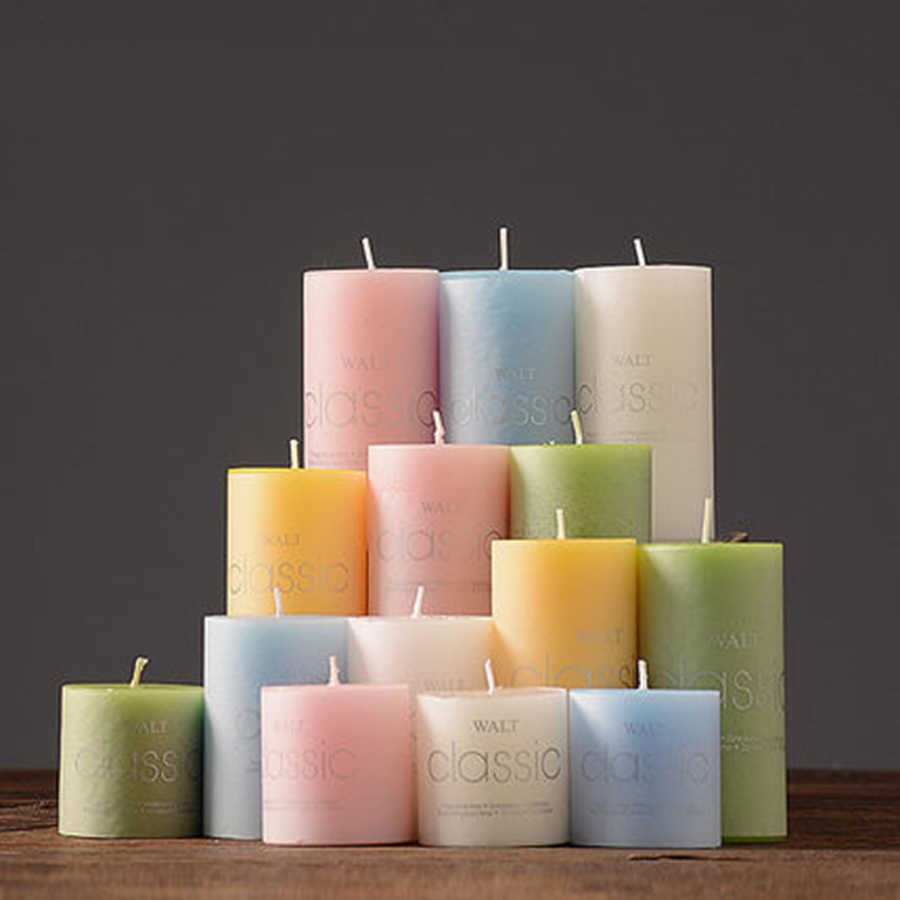 Scented Candles Decorative Pillar Candlelight Smoke Free Tealight Sparklers for Weddings Birthday Party Romantic Holiday 5LZ024