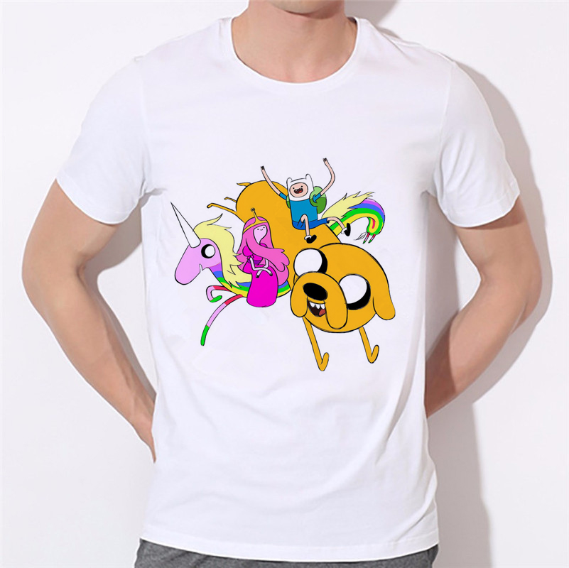 Funny Harajuku Sitcoms Adventure Time Shirt Men Jack Basic T Shirt walking dead zombie Video Games T-Shirt Mens Clothing W-321#