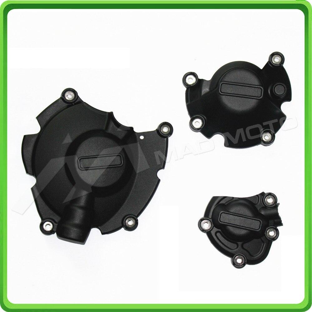 Motorcycle Engine Case Cover Slider / Protector Set for Yamaha YZF R1 2015 2016 MT-10 2016 motorcycle arashi radiator grille protective cover grill guard protector for yamaha yzf r1 2004 2005 2006