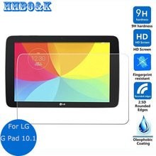2Pcs 9H Tempered Glass Screen Protector Film for LG G Pad 10.1 V700 + Alcohol Cloth + Dust Absorber