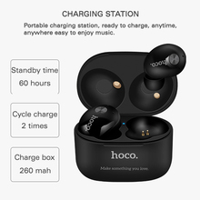 Hoco ES10 Bluetooth earphone Twins Earphones Deep Bass sports in ear headset freehands headphones with microphone charger box