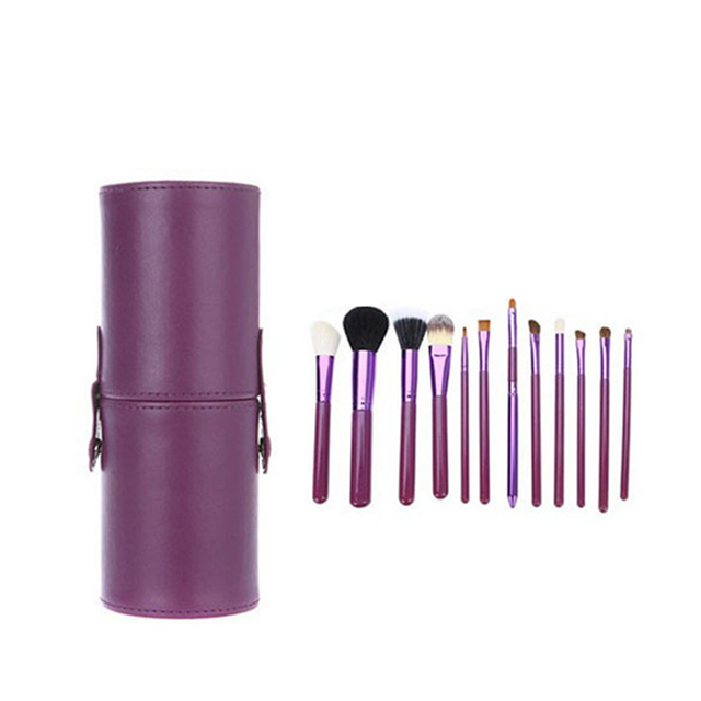 Professional Cosmetic Make Up Brush Set with Brush Cup Foundation Eyeshadow Powder Brush 12Pcs Makeup Brush Kit Makeup Tools Se