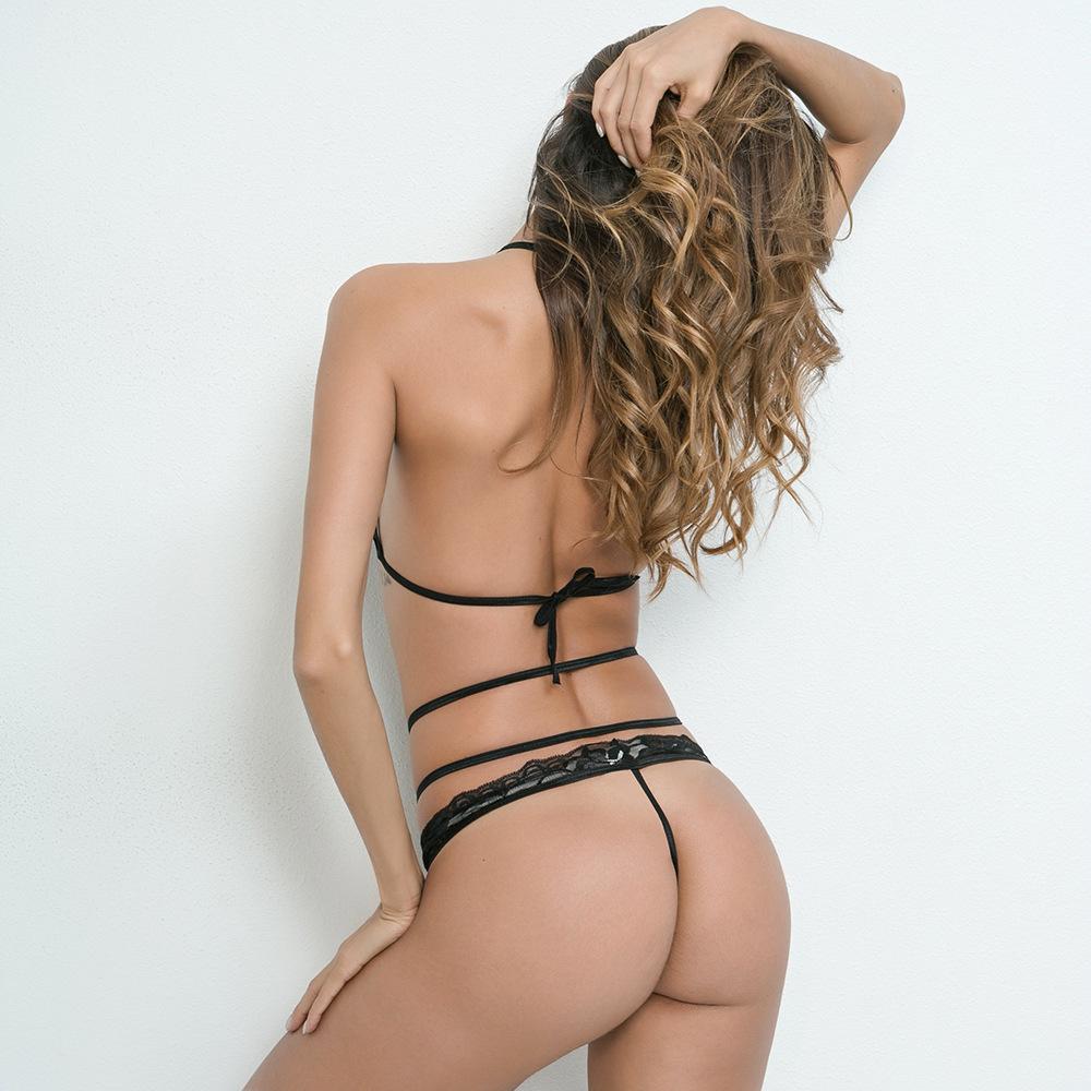 Godier Women Intimates Bikini Transparent Ultra Thin Underwear Lace 1 Gratis Sexy V Neck Bra Embroidery Set Plus Size Brief Push Up Pant Lingerie Setusd 2508 Piece