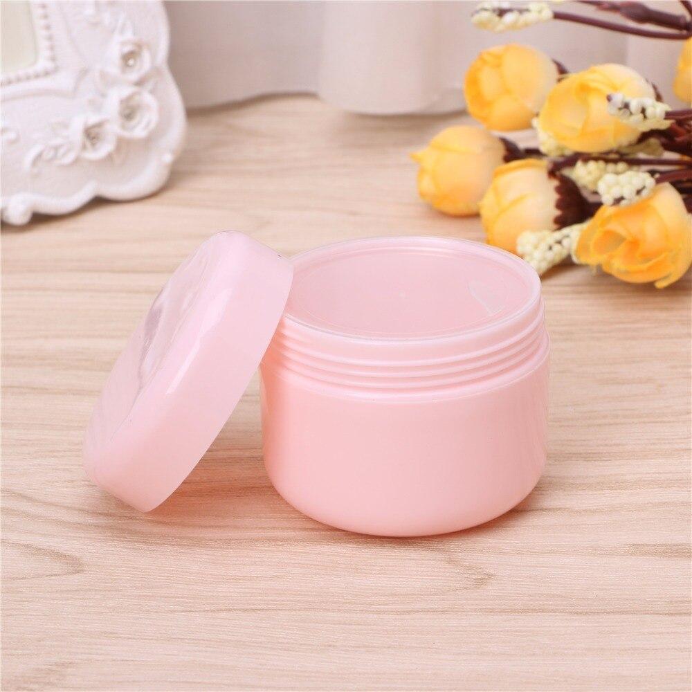 10g/20g/50g/100g Travel Face Cream Lotion Cosmetic Container Plastic Empty Makeup Jar Pot 1pc Random Color