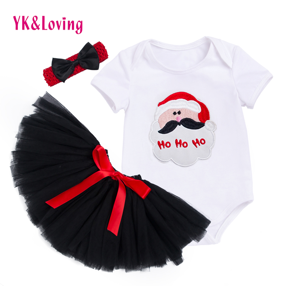 New Girl Tutu Rompers for Newborn Birthday Baby Clothes 3PC Sets Body Clothing for Reborn White Romper Black Tutu Skirts Z703 hot toddler girl clothing cake tutu skirt and long sleeved rompers suit high quality newborn baby girl sets birthday baby gift