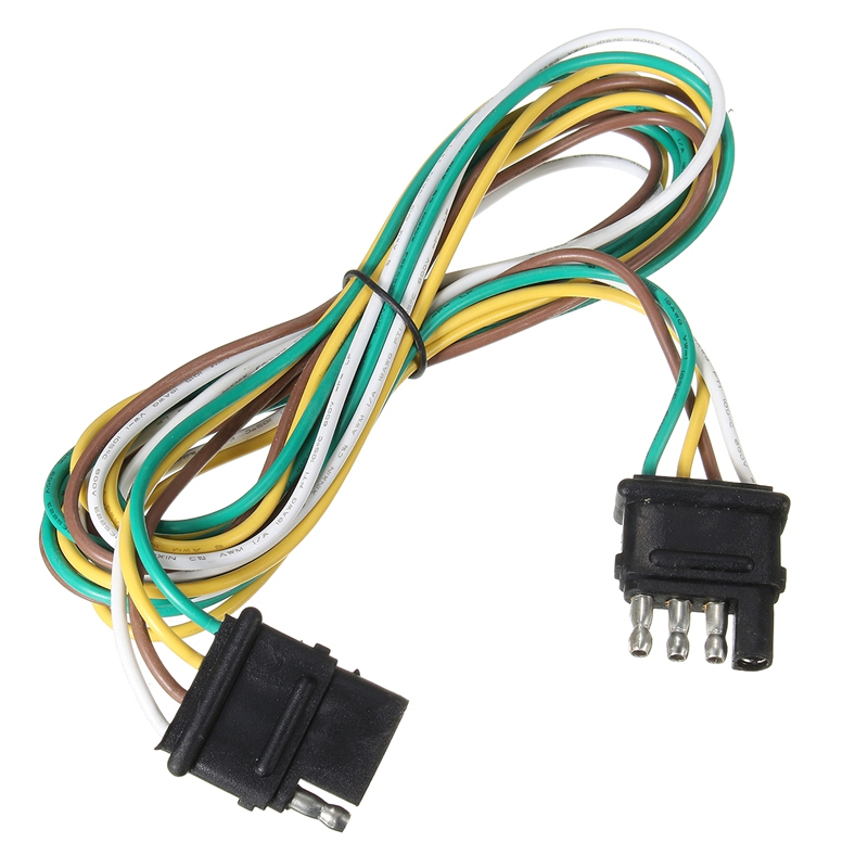 trailer lights wiring harness promotion shop for promotional auto wire connector 4 way pins trailer end light wiring harness bonded flat pole connector plug cable