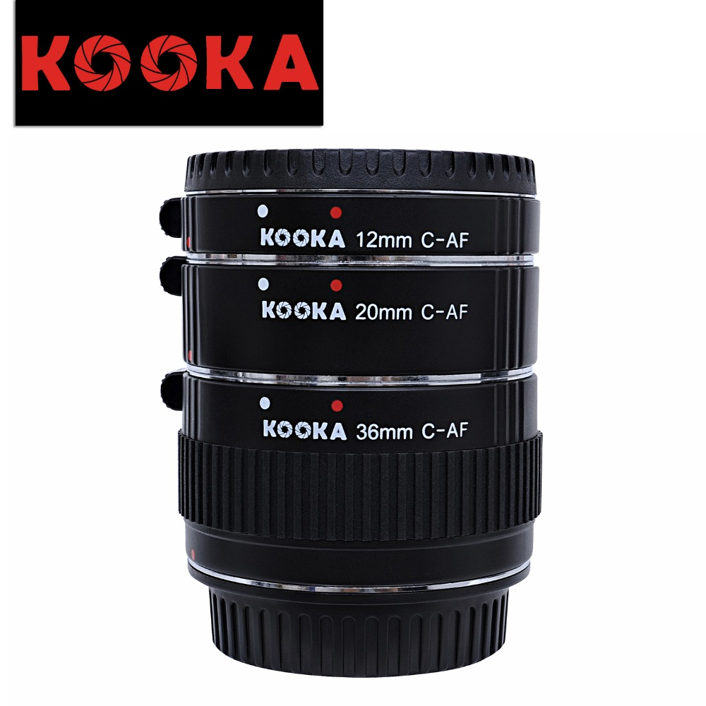 Micnova KOOKA KK-C68 Metal Copper Auto Focus AF Macro Extension Tube Tet for Canon 70D 5D2 5D3 7D 6D 650D 600D 550D red metal mount auto focus af macro extension tube ring for canon ef s lens t5i t4i t3i t2i 100d 60d 70d 550d 600d 6d 7d page 9