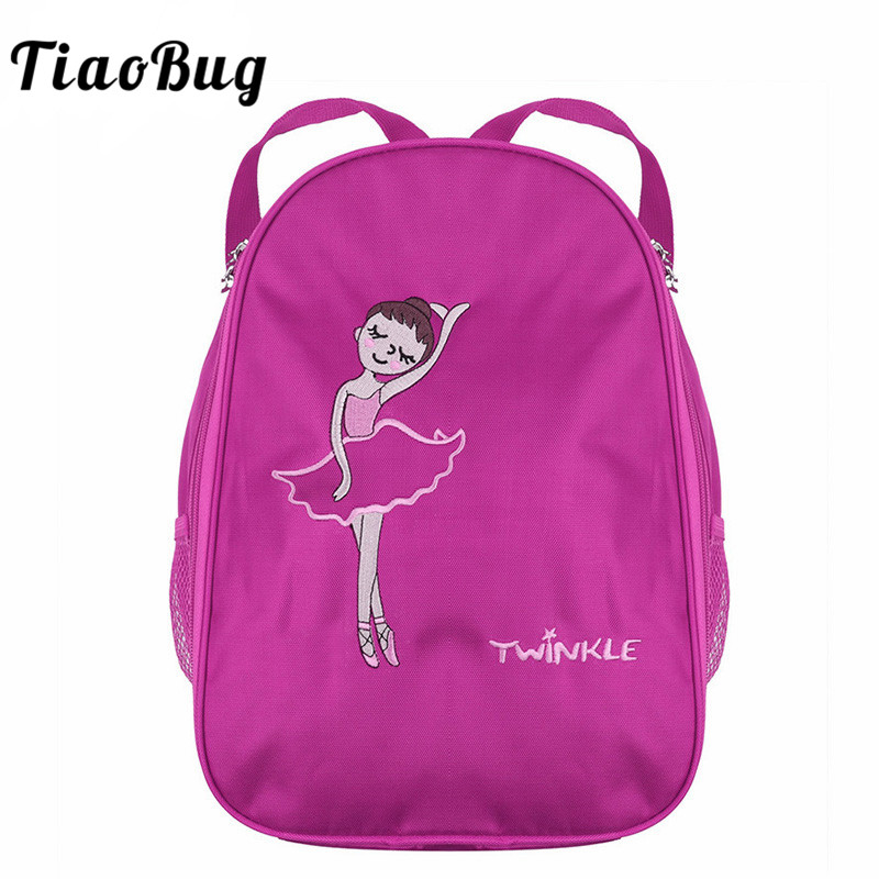 e15a9a5918a Detail Feedback Questions about TiaoBug Fashion Kids Ballet Dance Bag Girls  Students School Backpack Embroidery Cartoon Ballerina Dancing Gym Shoulder  ...