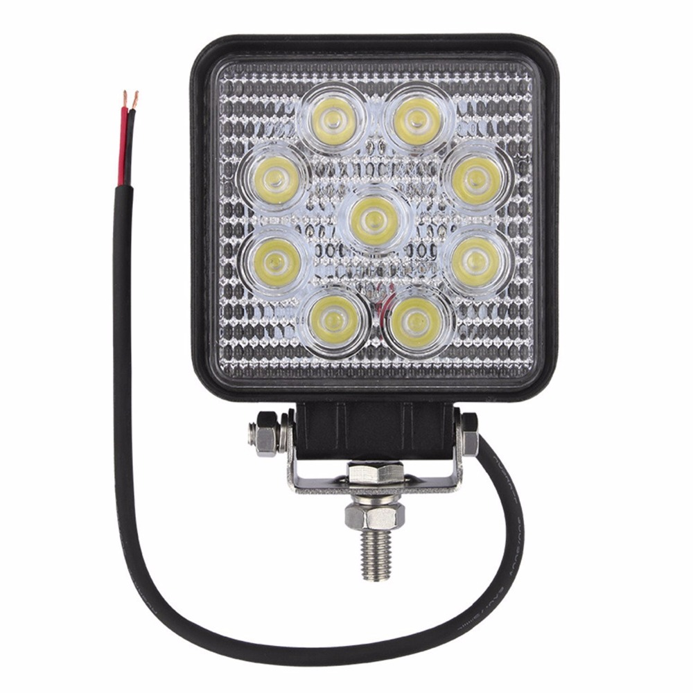 27w flood beam square led work light 9 led beads lamp bar for atv 27w flood beam square led work light 9 led beads lamp bar for atv truck jeep suv off road vehicles boat cabin deck etc in car light assembly from mozeypictures Gallery