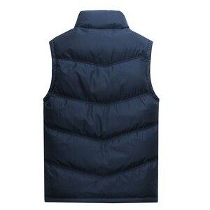 Image 2 - 2019 새로운 브랜드 망 재킷 민소매 조끼 겨울 패션 캐주얼 코트 남성 코 튼 패딩 남자 조끼 남자 thicken 조끼 3xl
