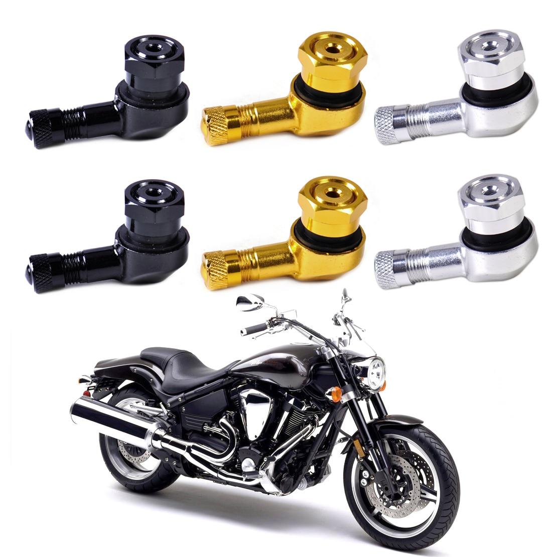 beler 2pcs 11.3mm Aluminum Wheels Tyre Tire Valve Stem Cap 90 Degree for Motorcycle Car Truck For Harley Chopper Honda ATV KTM