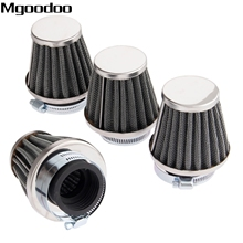 Mgoodoo 4x 39mm Double Layer Steel Air Filter Gauze Clamp-on Cleaner Pods ATV Scooter Minibike Dirtbike For Honda KTM Yamaha