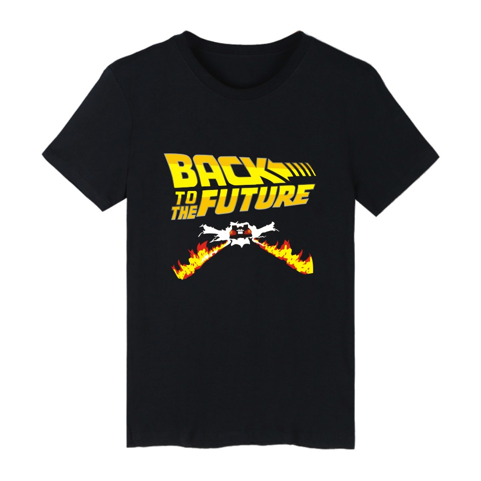 Back To The Future Classic Movie Hip Hop Short Sleeve T Shirts And Summer T Shirts Tee Shirts Series Cotton T-shirt Men 4XL