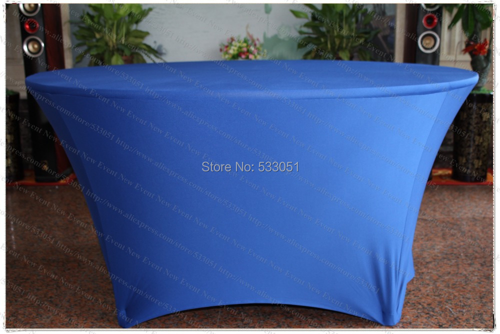 Blue Spandex Table <font><b>Cover</b></font>/Lycra Tablecloth/<font><b>Chair</b></font> Sash/<font><b>Chair</b></font> <font><b>Cover</b></font>/Napkin For Wedding Party Hotel Banquet Home Decorations