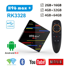 Android 9,0 H96 MAX плюс Rockchip RK3328 tv box 4 Гб оперативной памяти 32g/64g rom Quad core 2,4g/5g Wi-Fi BT4.0 4 K HD H.265 Smart Media Player