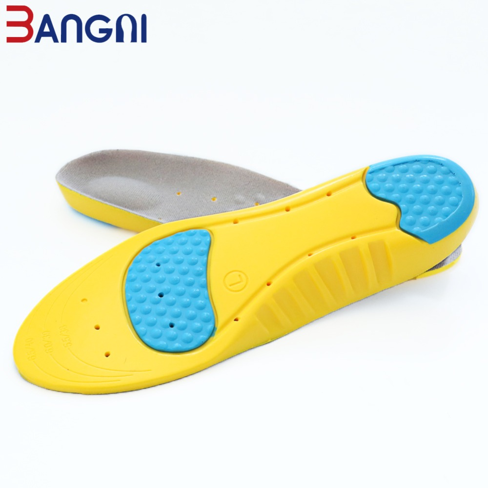 3ANGNI PU Free Size Massage Shock-Absorbant Breathable Sport Arch Support Sport Insole For Women Men Shoes Insert Pad