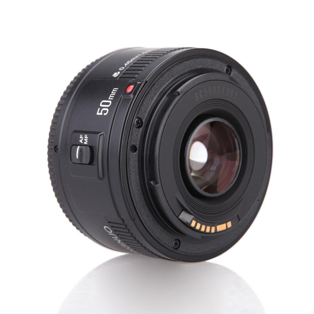 Оригинальный YONGNUO ю . н . EF 50 мм f / 1.8 AF 1:1. 8 стандартный премьер объектива диафрагма автофокус для EOS цифровых зеркальных камер|50mm f/1.8|ef 50mm f/1.8prime lens | АлиЭкспресс