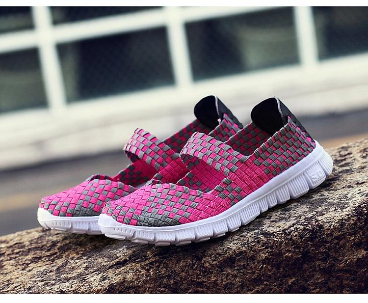 QJ 599-2019 Breathable Women Summer Shoes Fabric Woman Flats-4