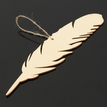 10 pcs/Lot Feather Shaped Ornaments for Home Decor