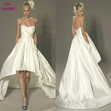 CX SHINE Custom Size Color New Elegant High low Wedding dress short front Bride gown Party