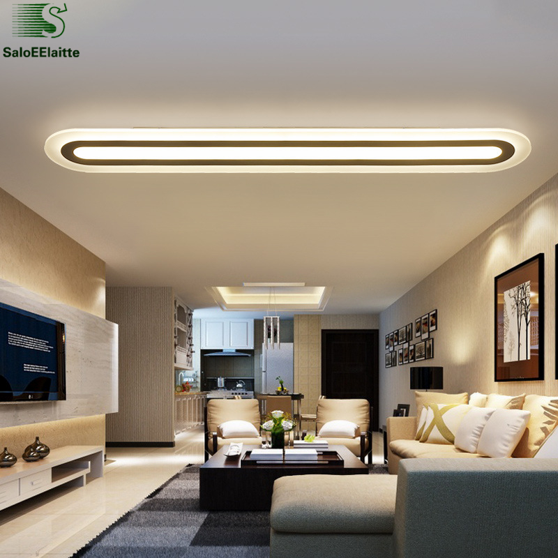 Modern Super Thin Acrylic Led Ceiling Lamp Straight Metal Ceiling Light Dining Room Lustre Luminarias Indoor Lighting Fixtures|indoor lighting fixtures|light fixtures|ceiling light dining - title=