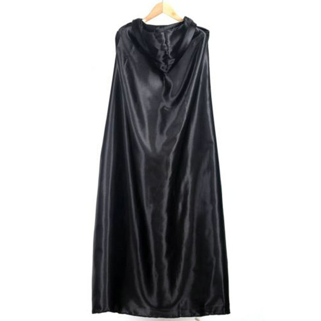 Jampelle Black Costume Theater Prop Death Hoody Cloak Devil Long Tippet Cape for for