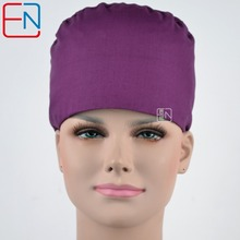 Hennar brand Unisex Medical surgical dentist caps/hats Pet doctor cap/hats scrub caps in purple 100% cotton