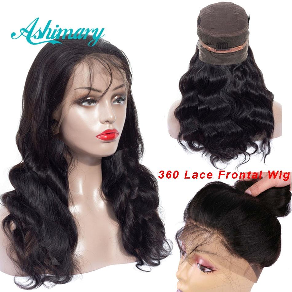 Ashimary предварительно сорвал 360 синтетические волосы на кружеве al парик с ребенком волос бразильский средства ухода за кожей волна 360...