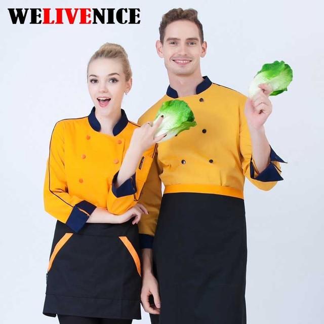 Nuovo disegno giacca cuoco stile Moderno bianco servizi di ristorazione ristorante  chef uniforme di hotel cucina 722bac1814d6