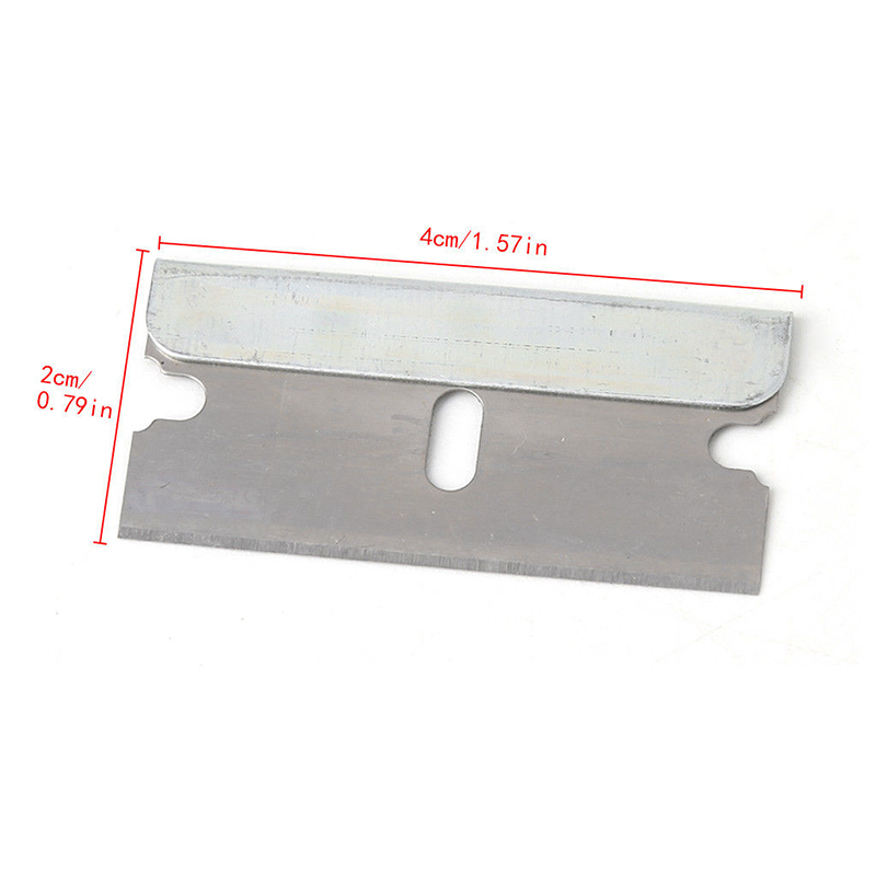 1.57inch Stainless Steel Blades Window Tinting Razor Scraper For Tool Cleaning Ceramic Glass Oven Saw Blades