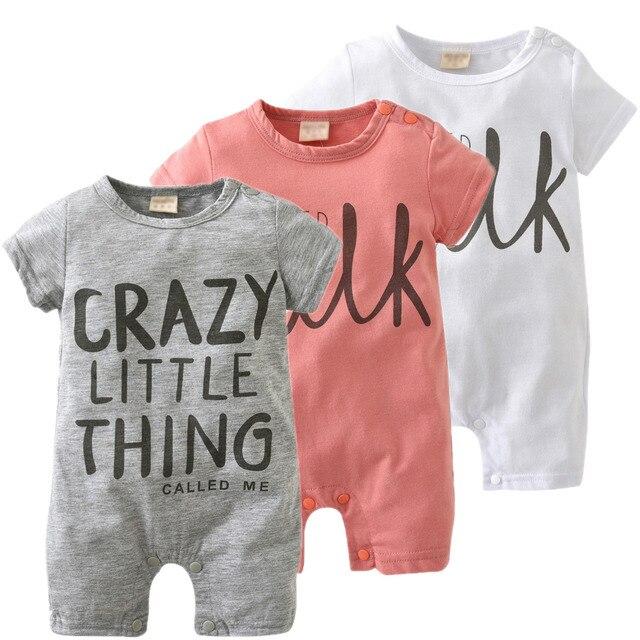 063ae5df7163 2019 New Fashion baby Romper unisex cotton Short sleeve newborn baby ...