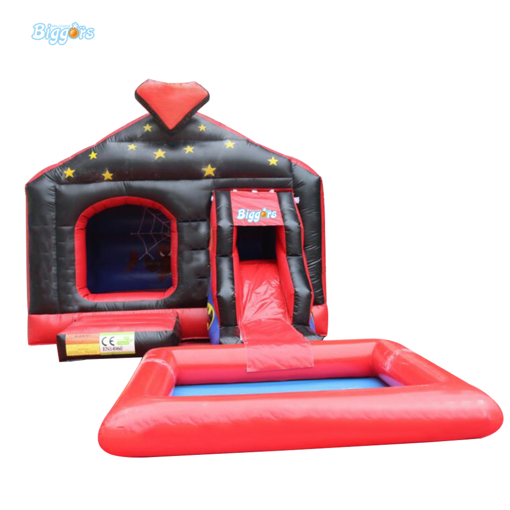 Durable Pvc Tarpaulin Outdoor Jeux Gonflables Inflatable Tobogan Bouncy Castle With Slide And Pool tropical inflatable bounce house pvc tarpaulin material bouncy castle with slide and ball pool inflatbale bouncy castle
