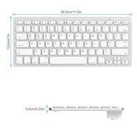 עבור מחשב נייד מיני מקלדת אלחוטית Ultra-Slim מולטימדיה Bluetooth מקלדת עבור MacOS Windows אנדרואיד IOS מחשב נייד Tablet Macbook iPhone iPad (5)