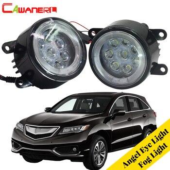 Cawanerl For 2010-2015 Acura RDX Car LED Bulb Fog Light Angel Eye Daytime Running Light DRL 12V Accessories 1 Pair