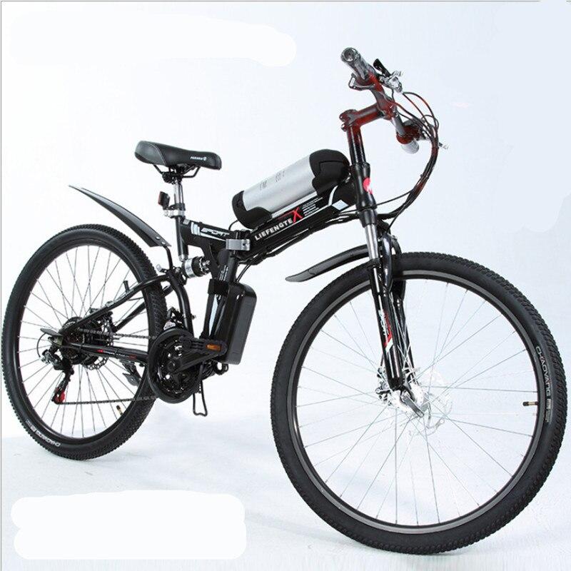 26 pouce au lithium batterie électrique vélo électrique pliant électrique vtt 48 v 500 w moteur, e-vélo mâle et femelle étudiant