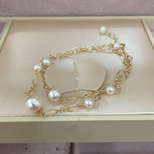 pearl bracelet for women fashion jewelry accessories elegant female charms party wedding freshwater pearl bracelets&bangles nymph seawater pearl bracelets fine jewelry near round natural pearl bangles for women gold trendy anniversary gift [s308]