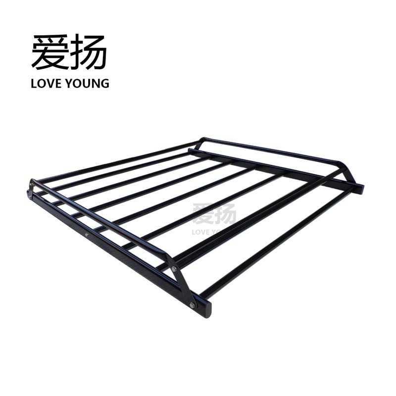 Universal Quality Steel Simple Roof Cargo Rack Carrier Black Car Rack Basket