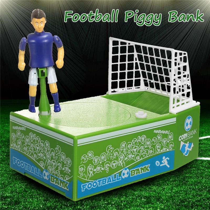 Football Player Money Bank Coin Bank Cartoon Soccer Goal Coin Money Saving Box 16.5x10.7x18CM Children Coins Organizer Boxes