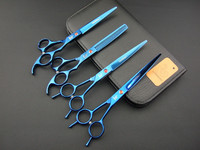 Dog Grooming Scissors 2 X 7INCH Cutting 6 5INCH Thinning 7INCH Curved LYREBIRD Black Blue Golden