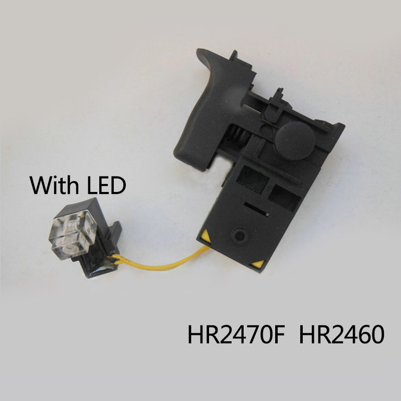 Free shipping! Electric hammer Drill Speed Control Switch for Makita HR2470/HR2460 With LED light ,Power Tool Accessories free shipping original electric hammer drill speed control switch for bosch tsb1300 gsb500re power tool accessories