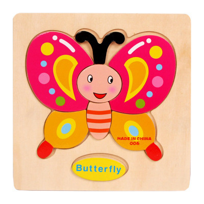 Wooden Shape Matching Puzzles for Kids with Cartoony Designs