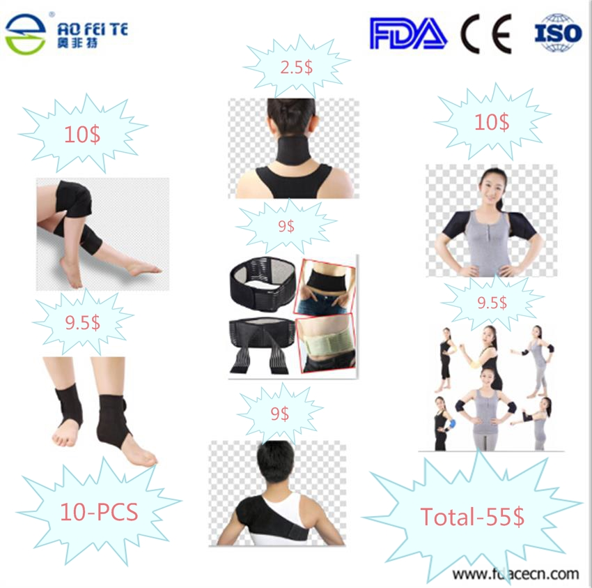 Adjustable Tourmaline Magnetic Therapy Neck Shoulder Wrist Elbow Belt Knee Ankle Massager Posture Corrector 10kg adjustable ankle wrist weights