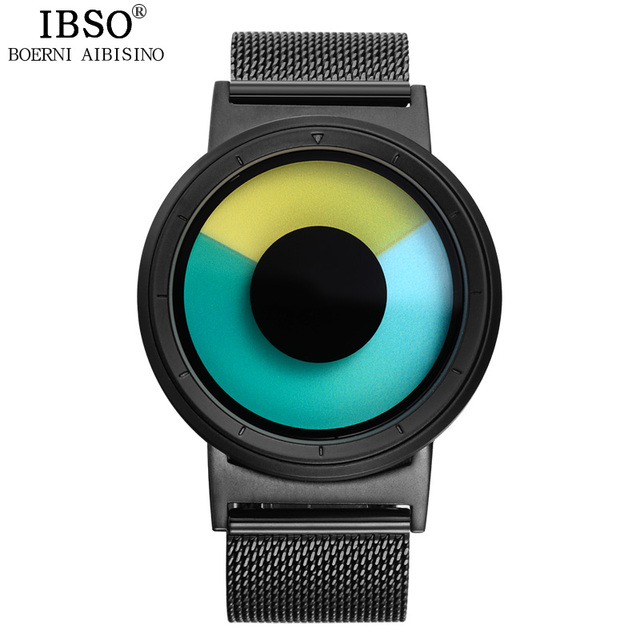 IBSO Men's Creative Quartz Watches Sport Steel Mesh Strap Watches Hours Fashion Novelty Quartz Clocks Waterproof Watch for Men | Fotoflaco.net